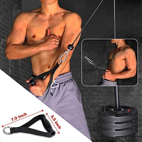 BZK 3 in 1 Upgraded 11 Packs LAT and Cable Attachments Pulley System Gym Equipment - Pull-Downs Machine with Upgraded Loading Pin for Exercise Upper Body - Professional Home Fitness Equipment