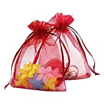 Hotsaleglobal Organza Drawstring Gift Bags Wedding Party Christmas Favor Bags Jewelry Pouches Wrap Assorted Sizes and Colors