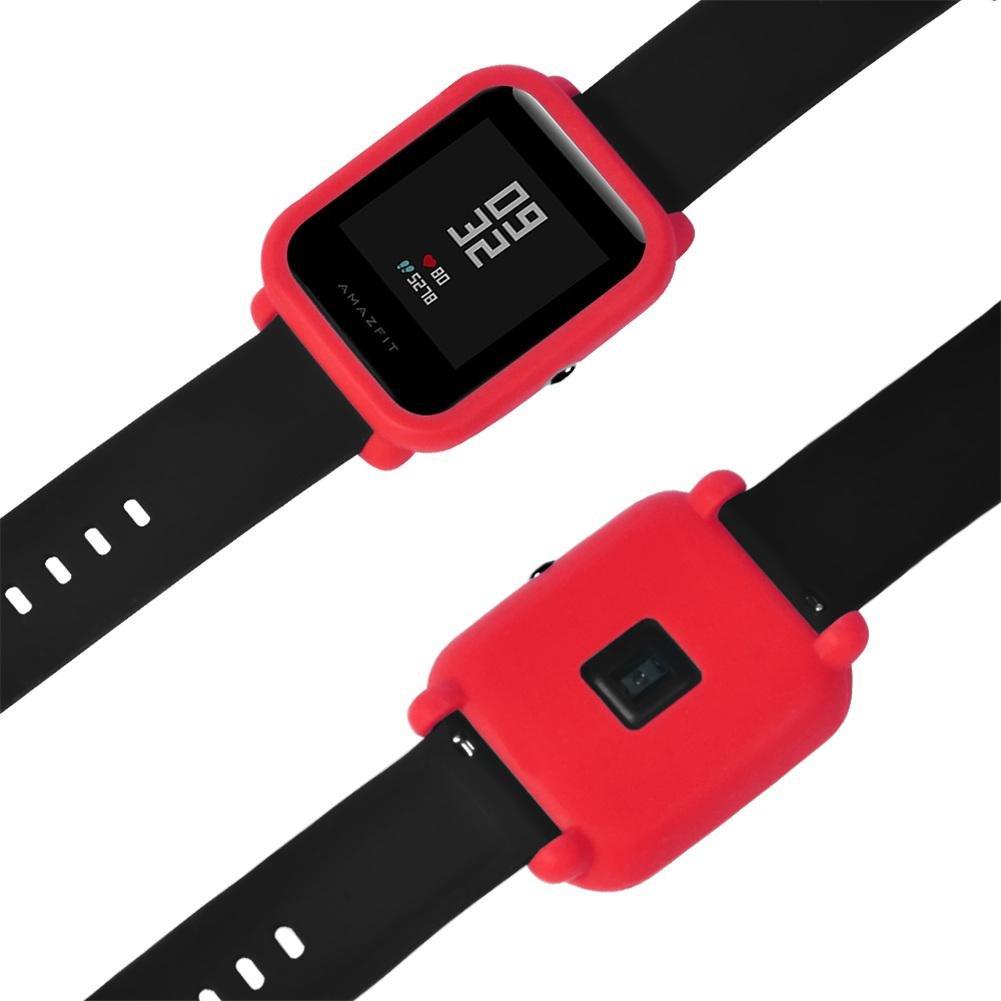 Fancylande - Protector de Smartwatch - Delgado y de color - Suave para la piel - Xiaomi Huami Amazfit Bip Youth Montre
