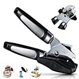 Manual Can Opener 3-in-1 Bottle Cap Lever Opener Hands Free Lids off Jar Opener With Stainless Steel Blade Easy Turn Knob and Ergonomic Handles Smooth Edge Tin Opener Kitchen Tool By H&HODOR