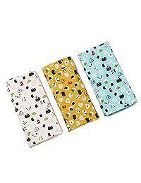 Houlife 6/12 PCs 100% 42S Cotton Floral Handkerchief Elegant Hankies for Women, 13.4×13.4''