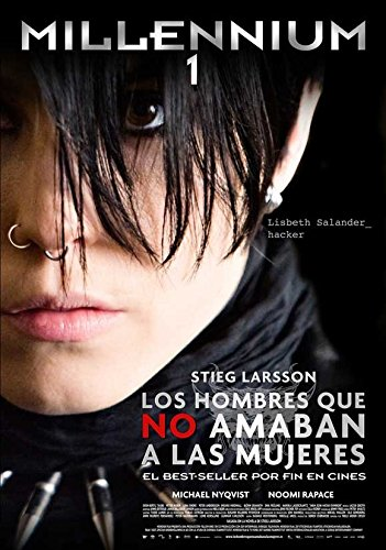 The Girl with the Dragon Tattoo Poster Movie Spanish Michael Nyqvist Noomi Rapace Lena