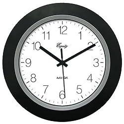 Equity by La Crosse 40222B LA CROSSE TECHNOLOGY LTD 10 BLK Auto Set Clock, Black
