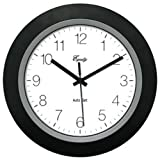 "Equity by La Crosse 40222B LA CROSSE TECHNOLOGY LTD 10"" BLK Auto Set Clock Black"