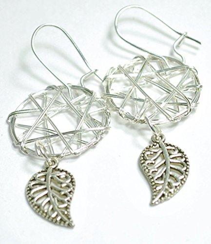 Silver Wire Dreamcatcher Earrings