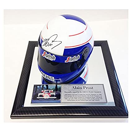 MirrorOutlet Firmado Alain Prost 1/2 Escala F1 Casco - Fórmula 1 Champion - McLaren