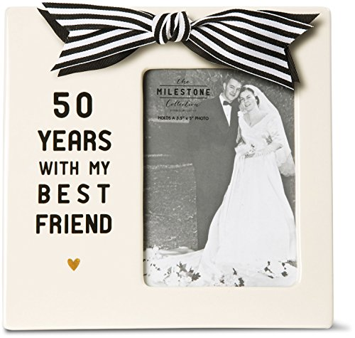 Pavilion Gift Company 63019 50th Anniversary Photo Frame, 7 by 7-Inch