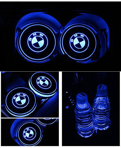 Audi S Bearfire Car Logo LED Cup Pad cup holder light USB Charging Mat Luminescent Cup Pad LED Mat Interior Atmosphere Lamp Decoration Light