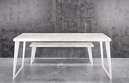 Dining Table Wash Wood (UMBUZÖ Reclaimed Wood Whitewash Dining Table Set)
