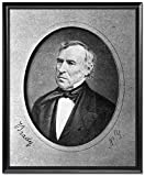 Black Wood Framed Print 16x20: Zachary Taylor, Head-And-Shoulders Portrait, Facing Left...