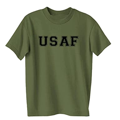 722c1fcabdafc6 Amazon.com: USAF Air Force S/S T-Shirt in Military Green: Military ...