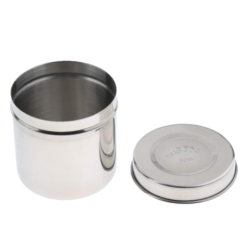 B Blesiya Pot Récipient en Acier Inox avec Couvercle Bocal pour Lab - Argent 10cm