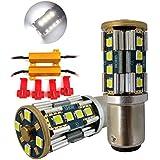 Huizen Super Bright 3000 Lumens 1157 (2357/2057/7528/1076/1142/3496) LED Light Bulb (6000K White) CanBus Error Free Replacement w/Load Resistor Decoder for Backup Reverse Lights, DRL (2 Pack)