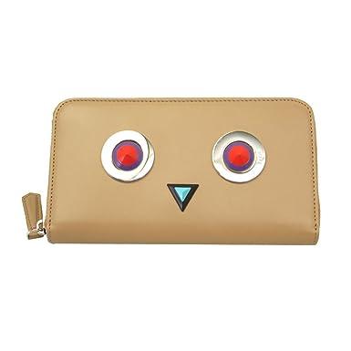 Fendi portefeuille porte-monnaie femme en cuir deux plis continental zip  around 02a8c2a8a3e