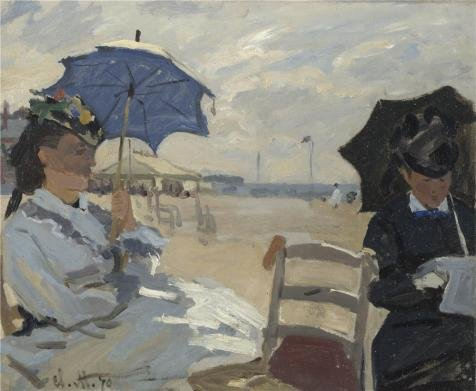 Perfect Effect Canvas ,the Imitations Art DecorativePrints On Canvas Of Oil Painting 'The Beach At Trouville, 1870 By Claude Monet', 8x10 Inch / 20x25 Cm Is Best For Nursery Gallery Art And Home Decoration And Gifts