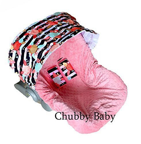 minky car seat cover for girls - 9
