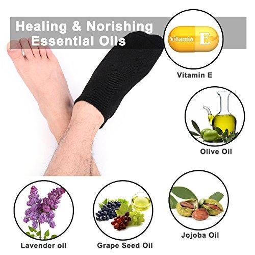 happon grandes hombres hidratantes Gel de calcetines Hombres Cuidado de los pies Tratamiento definitiva para seca rissige Pedicura en pies Paquete con 2 ...
