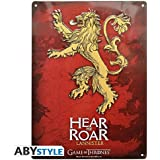 ABYstyle - ABYPLA008 - Plaque métal - Game Of Thrones - Lannister