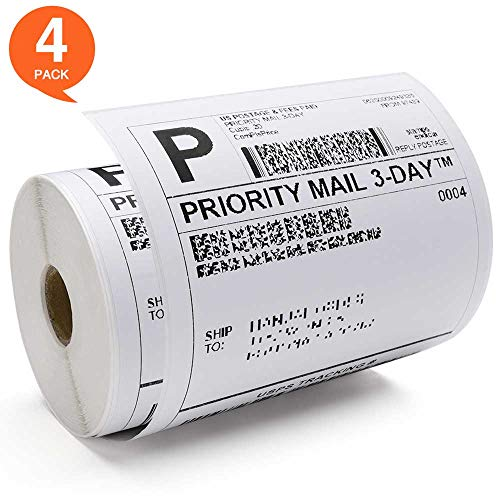"Fuxury 4"" x 6"" Shipping Labels (4 Roll - 250 Labels, used for sale  Delivered anywhere in USA"