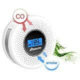 Smoke and Carbon Monoxide Detector Combo, with Sound Warning and Number Display  Battery Powered Smoke CO Alarm Detector
