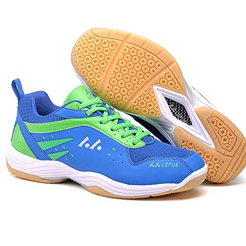 Badminton Herren Hallensportschuhe ASHION Kinder Sportschuhe Badminton Blau Schuhe Damen Turnschuhe Leicht Squashschuhe Schuhe Herren 0ZZwY1q