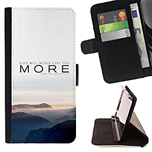 DEVIL CASE - FOR Apple Iphone 4 / 4S - More Nature Sunset Fog Grey Mountains - Style PU Leather Case Wallet Flip Stand Flap Closure Cover