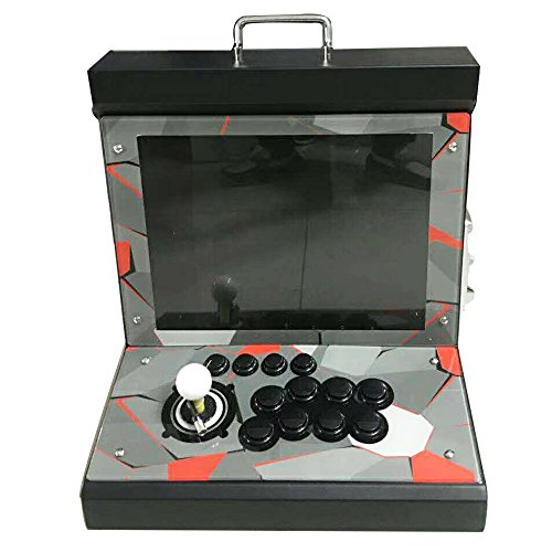 Tongmisi 1299 in 1 Pandora Box 5s Plus Fighting Arcade Game Machine Console with Coin Acceptor for 1 Player,15 Inches Screen - Black