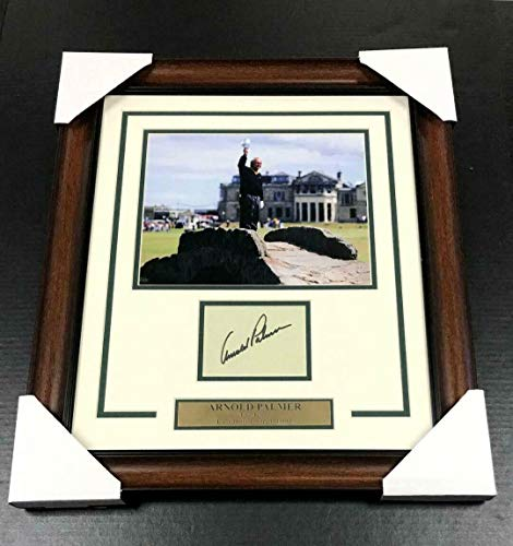 Signed Arnold Palmer Picture - Index Card W 8x10 Framed Last British Open - JSA Certified - Autographed Golf Photos - Arnold Photo Signed Palmer