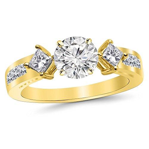 1.4 Ct Princess Diamond - 3