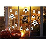 Yusongirl Halloween Party Decorations Grim Reaper Ghost Window Static Sticker Clings Decal Supplies (4Sheets)