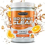 Muscletech Iso Clear Hydrolyzed Protein Drink Mix Powder, Ultra-Pure Isolate, Light and Refreshing, Keto Friendly, Orange Dreamsicle, 19 Servings (22g)