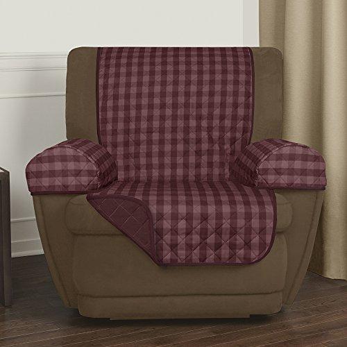 Maytex Buffalo Check Reversible Recliner Furniture Cover, Bu