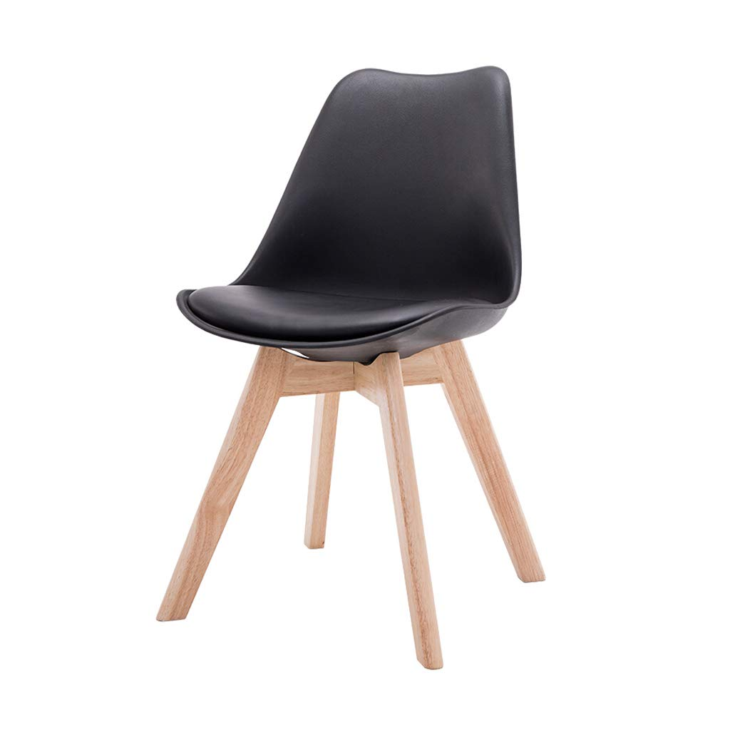 BLACK Leisure Chair Dining Chair Reception Chair Simple Fashion Creative Bedroom Living Room Lounge Chair Sitting Height 46cm Multicolor (color   RED)