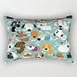 Dogs Pillowcase 12 X 20 Inch / 30 By 50 Cm For St. Patrick's Day, Gift For Relatives, Home Decor, Home Theater, Kids Room, Bar, Shop, Hotel, St. Patrick's Day, Pub, With Both Sides Printed