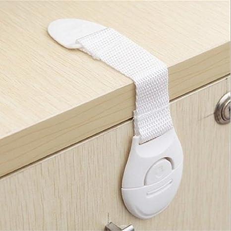 10 Piezas CalMyotis/® Beb/é de Seguridad Bloqueo cierres para puerta armario Frigor/ífico Caj/ón Bloquea