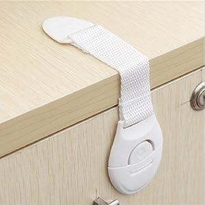 CalMyotis® Bébé de sécurité Verrouillage Verrouiller, Porte Armoire Réfrigérateur tiroir Verrouille (10 Pièce)
