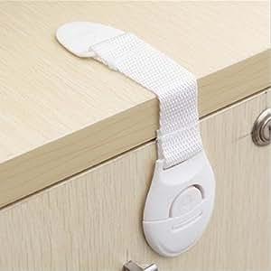 CalMyotis® Bebé de Seguridad Bloqueo, cierres para puerta armario Frigorífico Cajón Bloquea (10 Piezas)