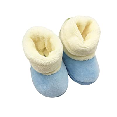 Leoy88 Baby Snow Boots Solid Color Toddler Shoes