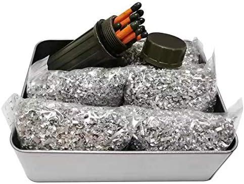 Jets Emergency Fire Starter Magnesium 5 Bags+1Free Tin Box/&Windproof Match Kit Camping Hiking Bushcraft