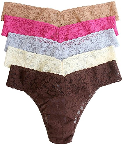 Hanky Panky Women's Original 5 Pack, Classics, One Size (Assorted colors)
