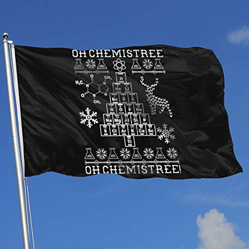 IEK04r@flag Beautiful Garden Flags for Outdoors, Oh Chemistree, Oh Chemistree! Ugly Christmas Chemistry Yard Flags | Durable, Polyester]()