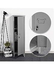 Funda de Box.COM - Armario de Almacenamiento de Metal Mordern Industrial para salón, Mueble de TV, aparador de clasificación, 120 cm, 3 Puertas