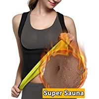 Glamours Womens Body Shaper Vest for Weight Loss Slimming Sweat Fat Burner Tank Top