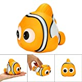 Hunzed Cute Animal Toys Fish Squeeze Stress Relievers, Scented Super Slow Rising Kids Toys (Multicolor)