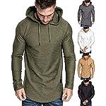Fashion Shopping lexiart Mens Fashion Athletic Hoodies Sport Sweatshirt Solid Color Fleece Pullover
