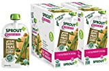 Sprout Organic Baby Food Pouches Stage 2 Sprout Baby Food, Green Beans Peas Butternut Squash, 4 Ounce (Pack of 10); USDA Organic, Non-GMO, Made with Whole Foods, No Preservatives, Nothing Artificial