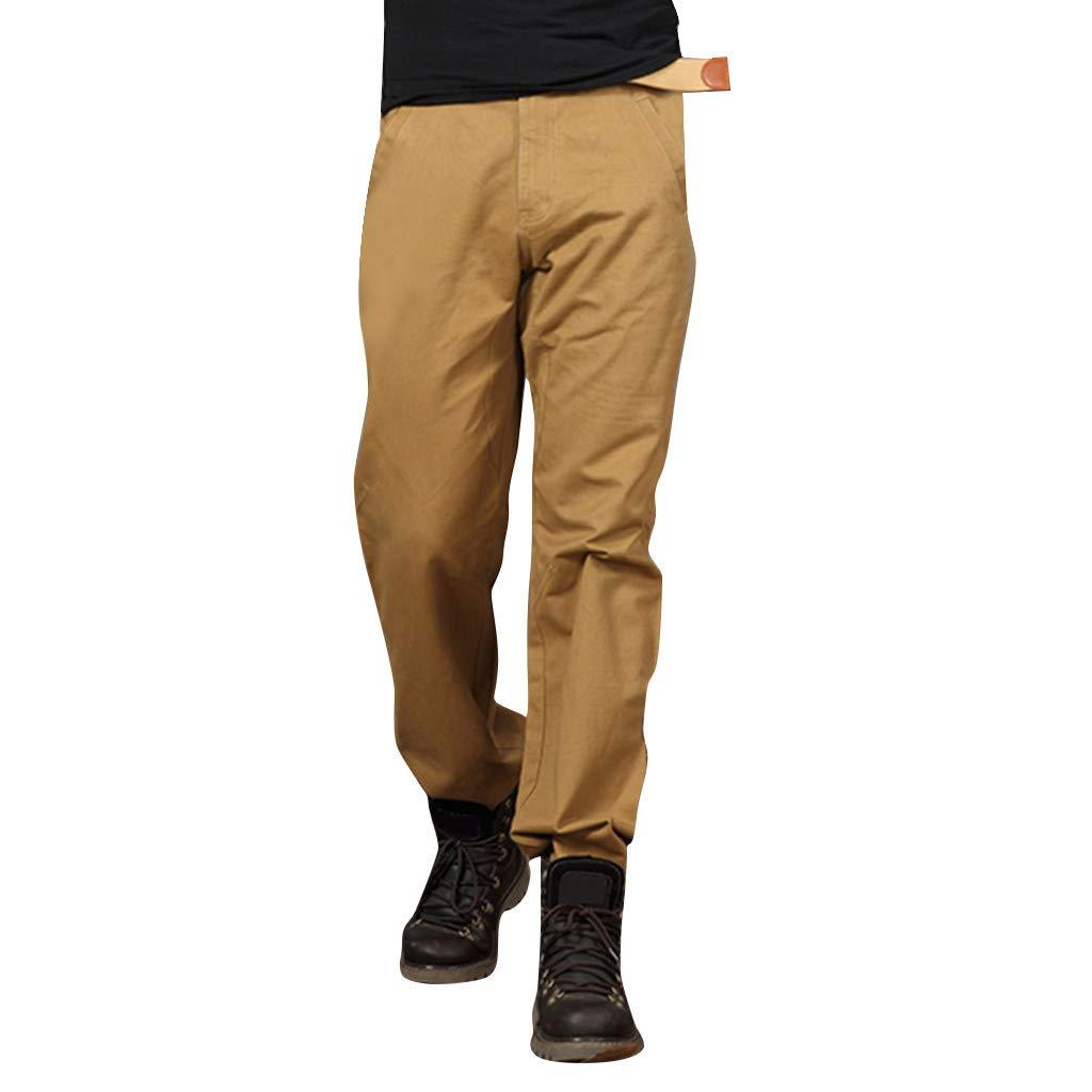 Pantalones tácticos para Hombres Pantalones de camuflaje Casual de algodón de camuflaje Pantalones holgados Grandes Yellow by Alalaso