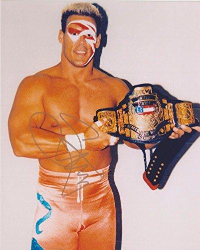 Sting Signed WWE WCW United States Champion 8x10