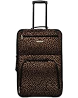 "Rockland 24"" Expandable Upright Luggage Suitcase - Leopard"