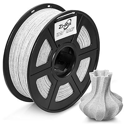 Zi-Rui 3D Printer Filament,Marble Color PLA 1.75mm,Dimensional Accuracy+/- 0.03mm,1KG(2.2lbs)